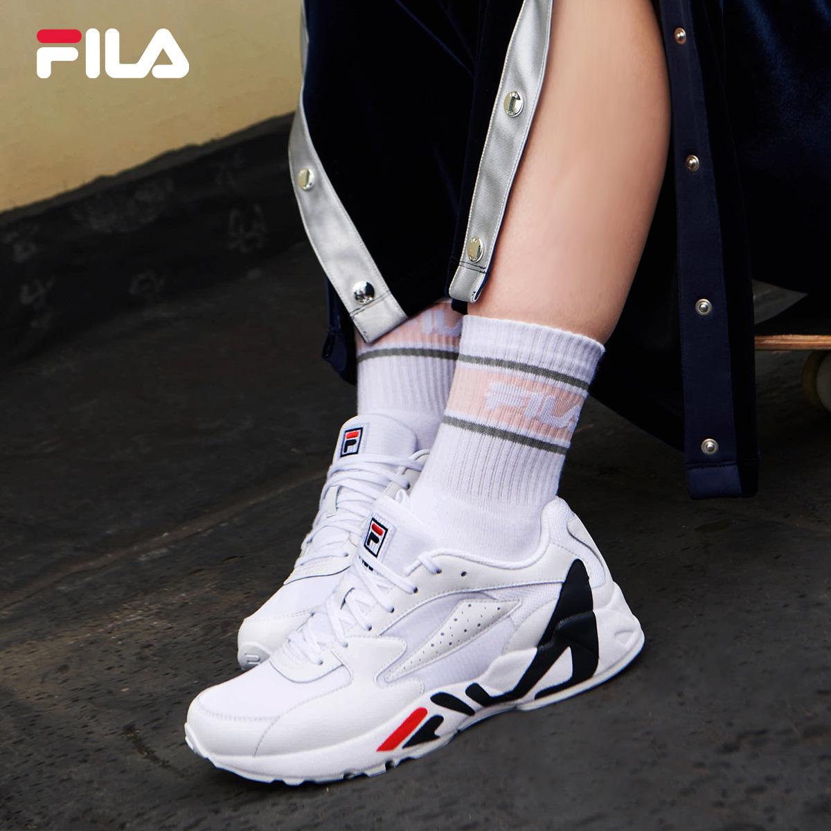 FILA斐乐女鞋秋季新品复古跑鞋跑步鞋舒适柔软运动鞋女生鞋子