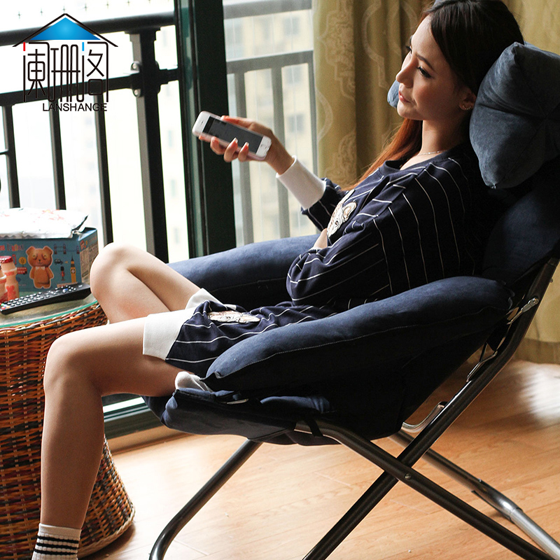 Lazy sofa single sofa chair leisure folding dormitory computer chair home bedroom modern minimalist balcony recliner