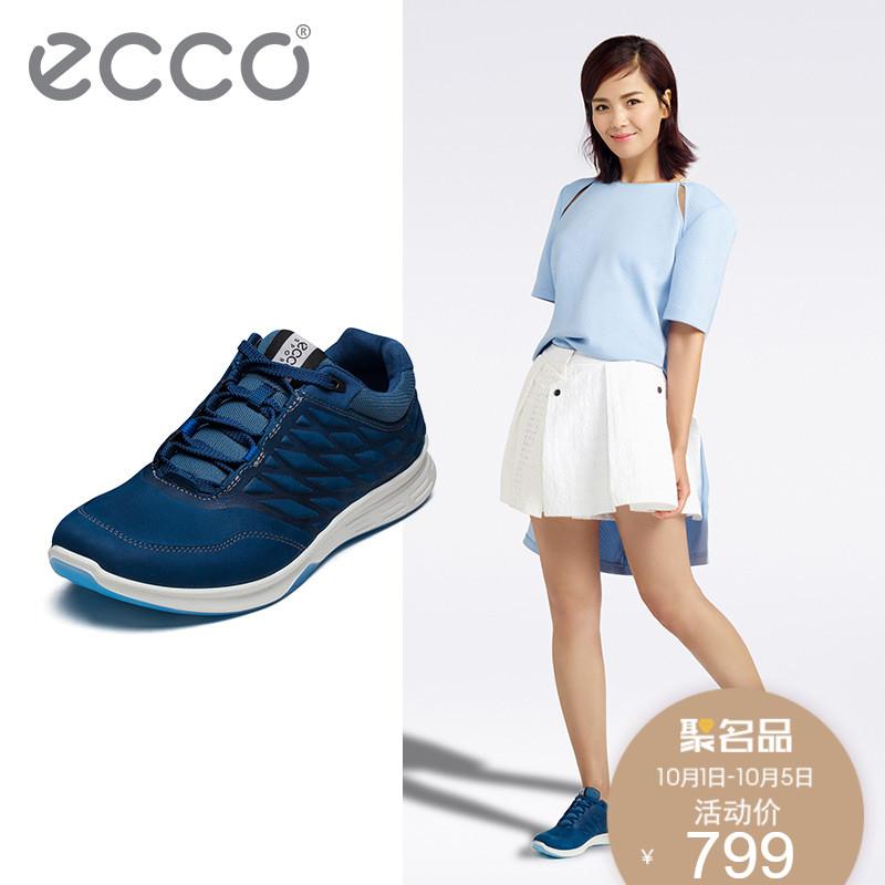 ECCO爱步女式平底休闲系带运动鞋时尚女鞋圆头女板鞋 超越870003