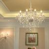 欧式水晶吊灯客厅灯具时尚蜡烛水晶灯现代简约大气简欧卧室餐厅灯