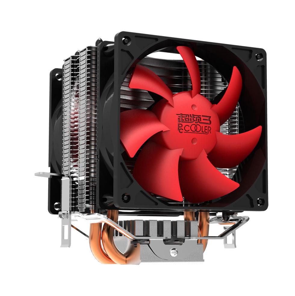 超频三红海mini cpu散热器电脑静音风扇AMD775 1155 1150台式铜管