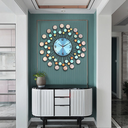 Wall Clock shell modern Chinese style clock wall living room creative fashion home