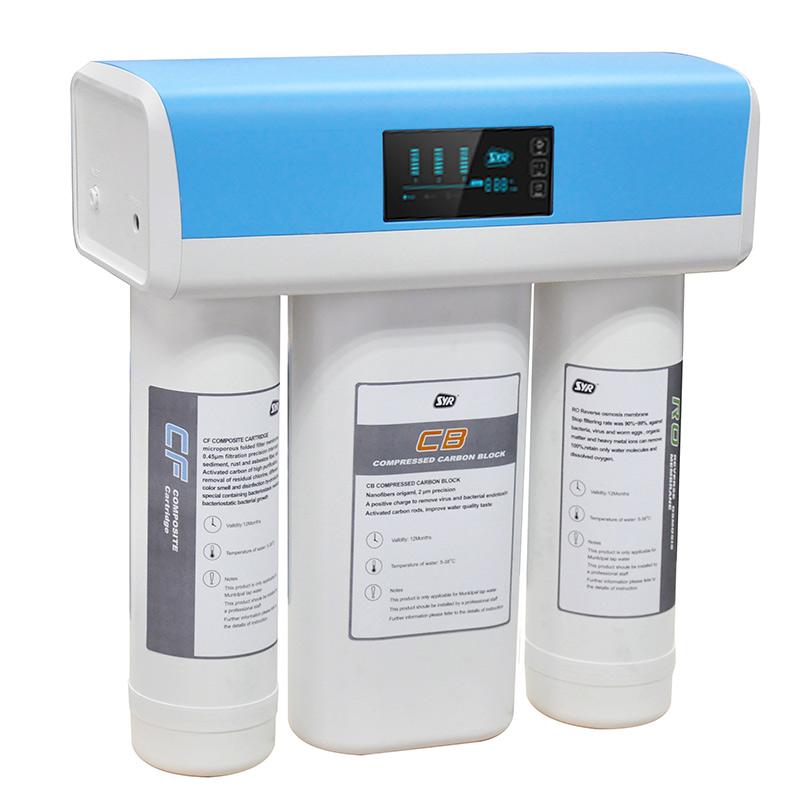 汉斯希尔净水器家用直饮橱柜 纯水机 ro反渗透净水机过滤TDS显示