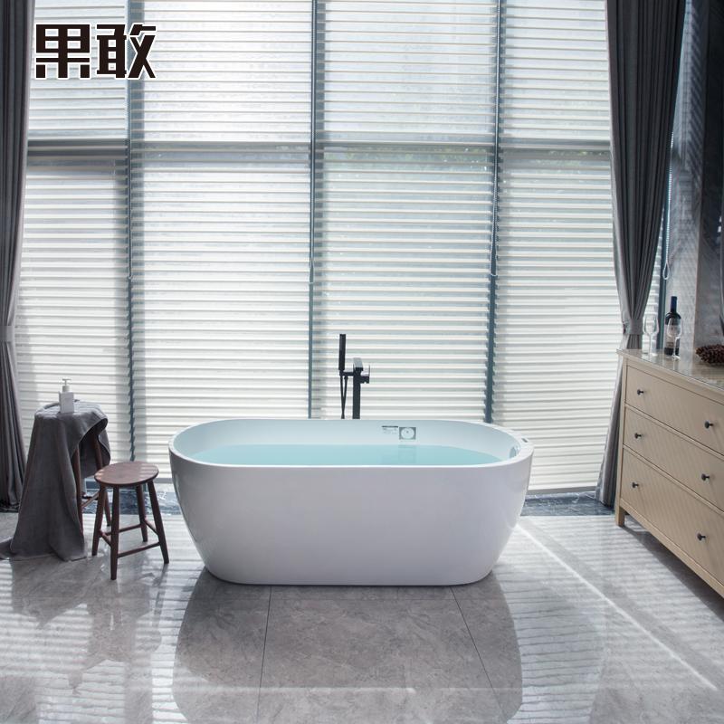 果敢亚克力独立式欧式浴缸浴盆北欧风格浴缸浴池1.5 1.6 1.7米058