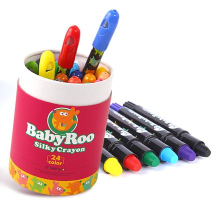 美乐蜡笔可水洗儿童丝滑旋转蜡笔婴儿笔画涂鸦笔安全无毒宝宝画笔