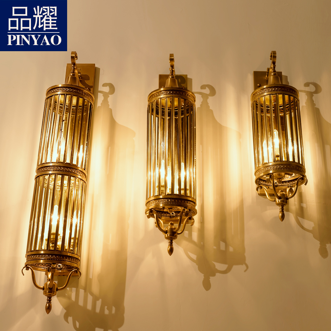 阳台壁灯室外户外防水庭院灯全铜欧式美式别墅酒店工程大壁灯纯铜