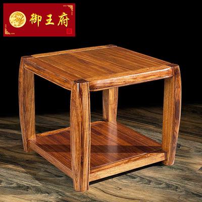 御王府中式全实木茶几乌金木客厅方几仿古双层储物边几实木家具
