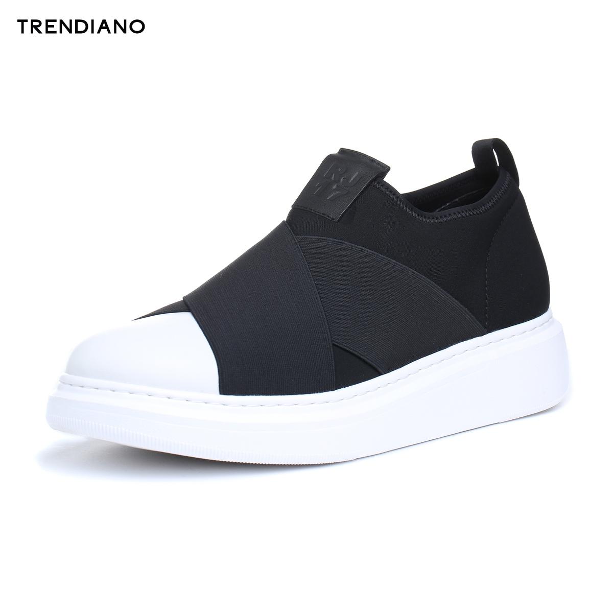 TRENDIANO新男装夏装潮流轻量拼接字母厚底低帮鞋板鞋3EA151802P