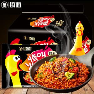 单身粮撩面惨叫火鸡面172g/包袋装国货网红速食方便干拌面酱料辣