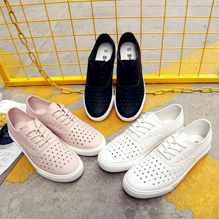 春夏秋季护士鞋小白鞋系带平底板鞋白色女学生韩版百搭休闲帆布鞋