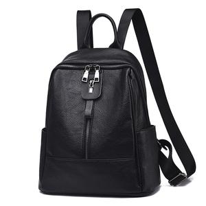 双肩包女2018新款韩版百搭软皮包大容量妈妈中年妇女旅行两用背包