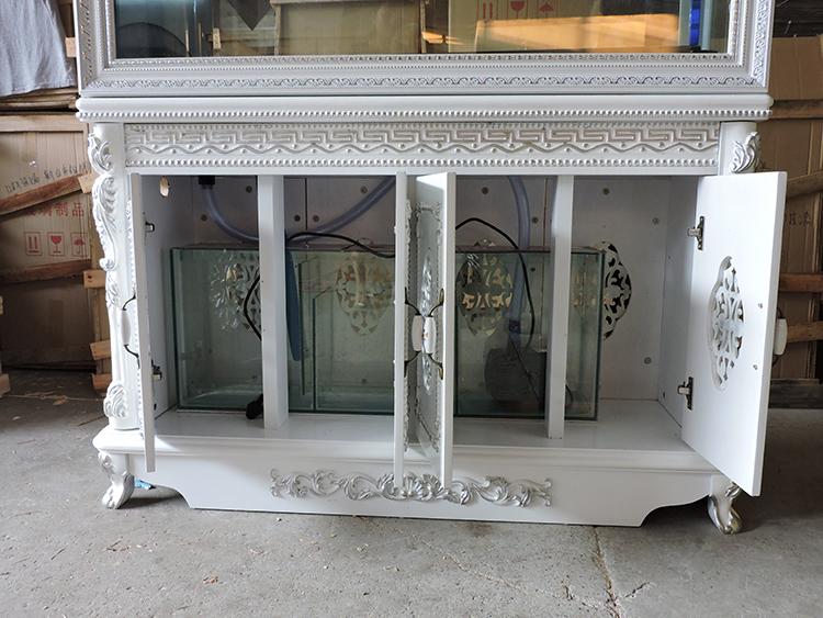 欧式鱼缸水族箱屏风隔断生态鞋柜烤漆定制底过滤新款