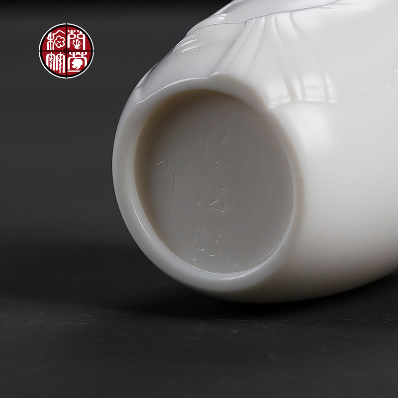 De - gen Chen checking dehua white porcelain masters cup single cup large kunfu tea cups and only personal cup bowl