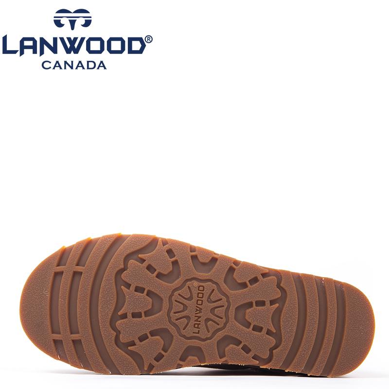 Lanwood 澳洲美利奴羊皮毛一体  女士中筒雪地靴