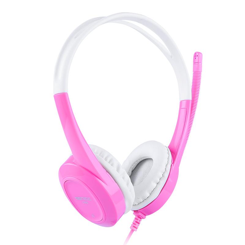声丽儿童耳机头戴式耳麦带话筒网课低分贝护耳英语听力电脑平板可爱mp3音乐耳麦学生男生女生台式笔记本耳机