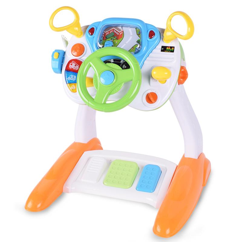宝丽儿童早教方向盘开车仿真模拟驾驶玩具宝宝男女孩3-4-5-6周岁