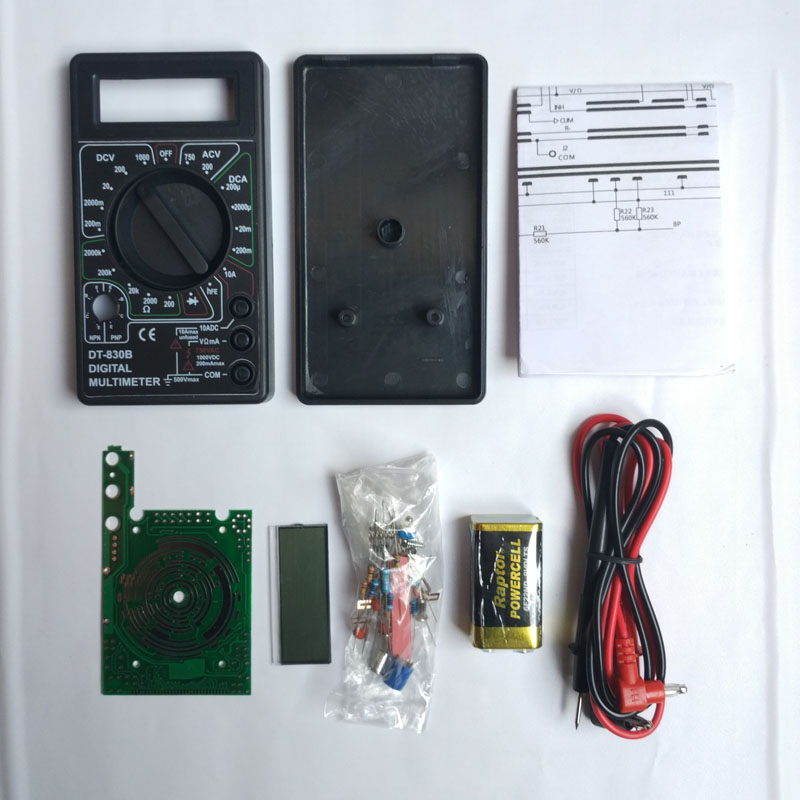Electronic Kits For Assembly : Digital multimeter kit practical electronic production