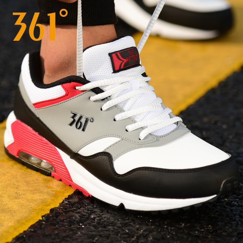 361官方运动鞋气垫鞋皮面跑步鞋
