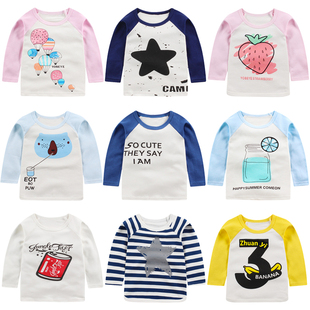儿童长袖T恤纯棉新款秋冬童装婴儿衣服女童打底衫3岁男宝宝上衣春