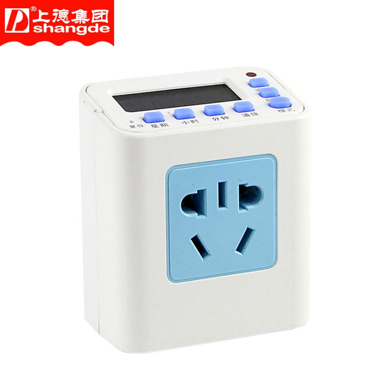 D牌 定时器插座 家用电动车时间控制器 微电脑时控开关 循环插座