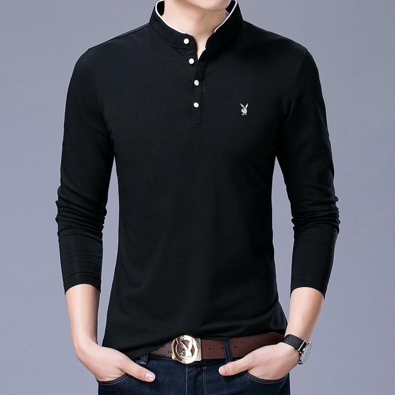 2017新款夏季男士短袖t恤青年男装韩版修身V领棉体恤丝光棉T恤
