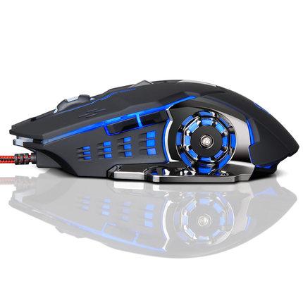 游戏机械鼠标宏有线电脑家用静音电竞光电吃鸡lol台式机USB女生cf