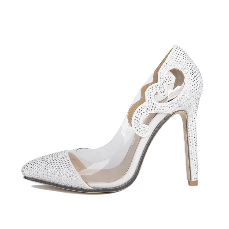 High-heeled wedding shoes, White Pumps's main photo