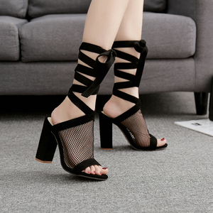Sexy Small Hole Boots High Heels