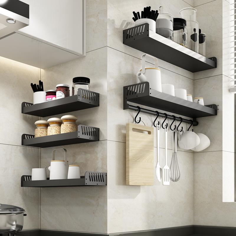 免打孔厨房调味品置物架壁挂式调料架子宜家收纳架省空间家用用品图片