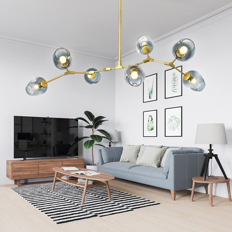 北欧灯具 后现代lindsey吊灯客厅卧室餐厅魔豆创意个性铁艺分子灯