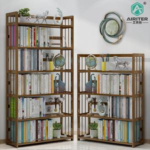 书架置物架落地儿童实木客厅多层学生简易书柜子经济型桌面收纳架