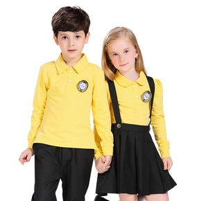 幼儿园园服春秋纯棉儿童运动短袖套装
