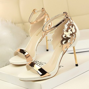 923-9 han edition banquet high heels for women's shoes high heel with waterproof island's head of sequins holl