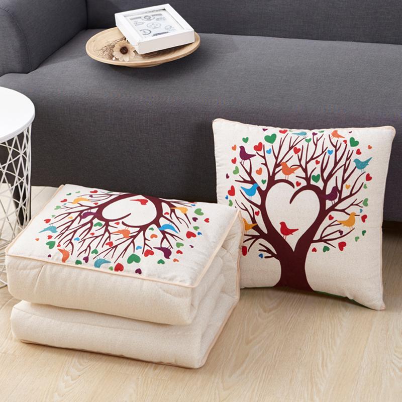 可爱抱枕被子两用靠垫被多功能毯午休枕头被汽车床头空调被小靠枕