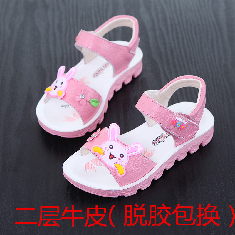 1abb14f66 Girls sandals 2019 summer new Korean princess shoes leather beach shoes  large Children Summer leather students sandals