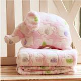 可爱两用卡通珊瑚绒毛绒枕头靠垫被抱枕被子