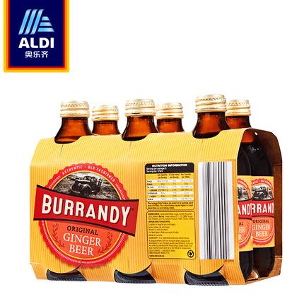 ALDI奥乐齐 澳洲进口姜汁啤酒375ml*6连装 0°酒精