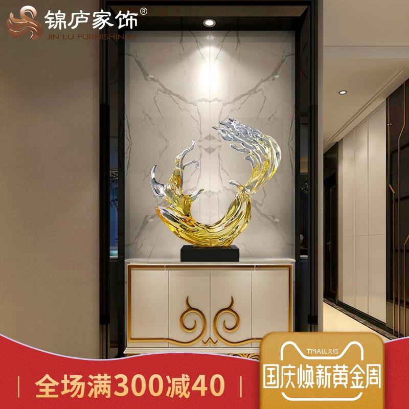 现代大型抽象摆件酒店大堂雕塑过道样板房客厅走廊落地玄关摆件
