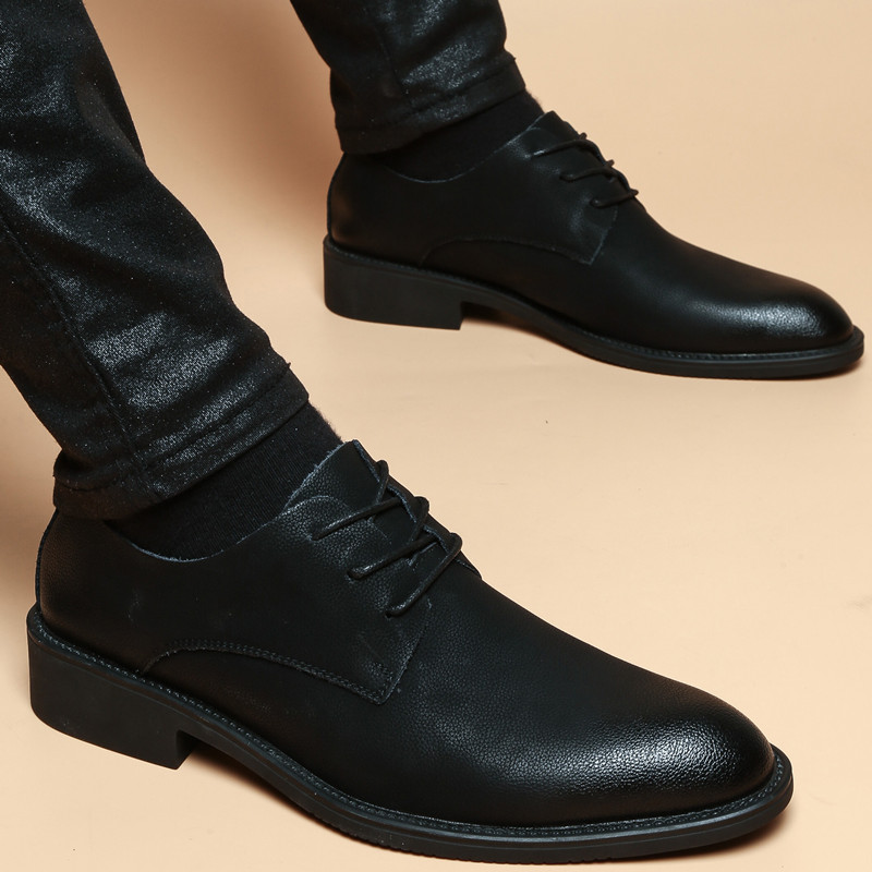 Men Fashion Leather Shoes Man Business Formal Shoes 811628