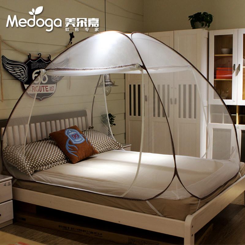 美朵嘉蒙古包蚊帐三开门免安装折叠学生1.2米1.5-1.8m床双人家用