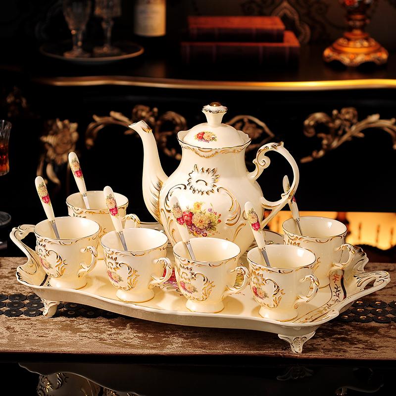 结婚礼物欧式咖啡杯具套装陶瓷闺蜜创意实用茶几搬家乔迁新居礼品