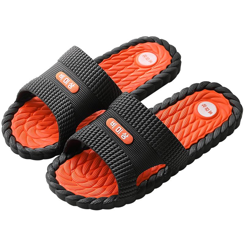 男士凉拖鞋家用夏天防滑室内浴室洗澡按摩拖鞋居家夏季女外穿厚底