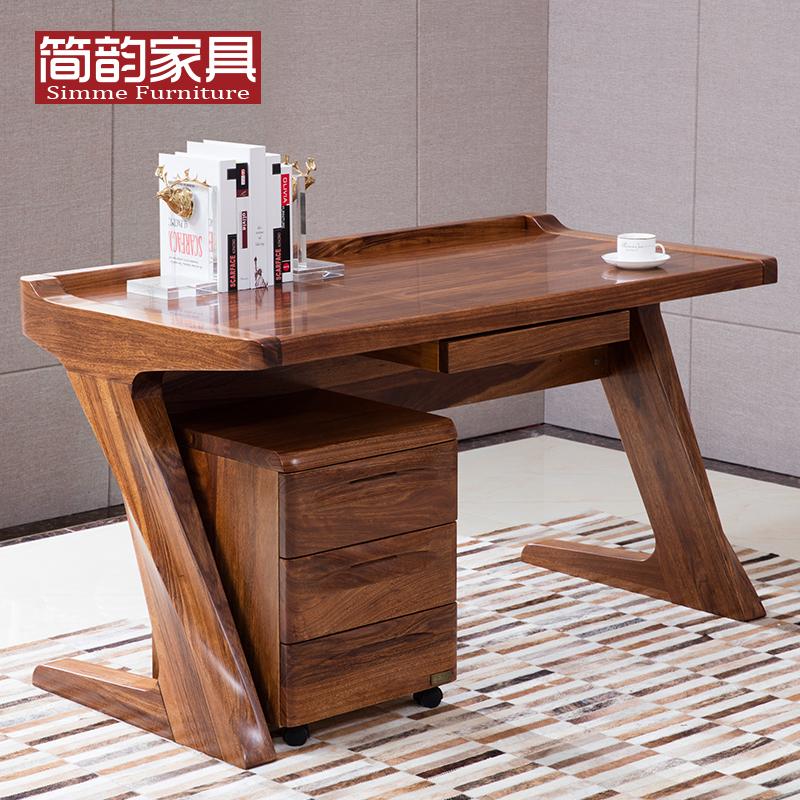 实木书桌写字台 乌金木电脑桌台式ag111.ap|开户现代中式办公桌 实木电脑桌