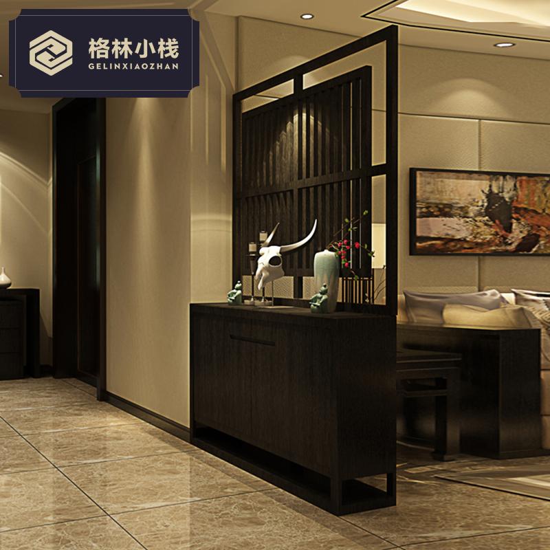 玄关柜隔断鞋柜屏风门厅客厅实木储物装饰现代简约新中式创意屏风