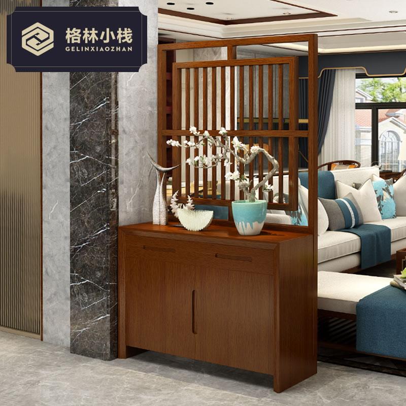中式玄关柜鞋柜屏风隔断柜屏风柜简约现代客厅门厅柜小户型间厅柜