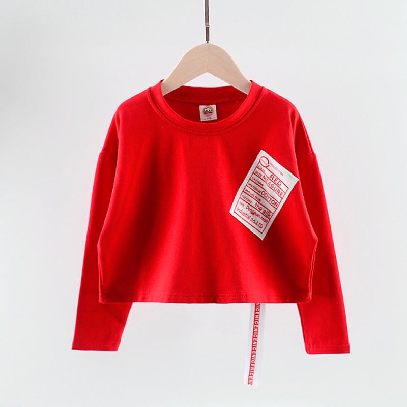女童洋气t恤短袖2018夏新款韩版中大童纯棉个性潮儿童秋体恤上衣