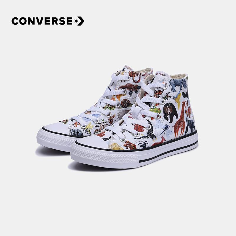 99预售 Converse 匡威 动物图案 中大儿童高帮帆布鞋 双重优惠折后¥217包邮