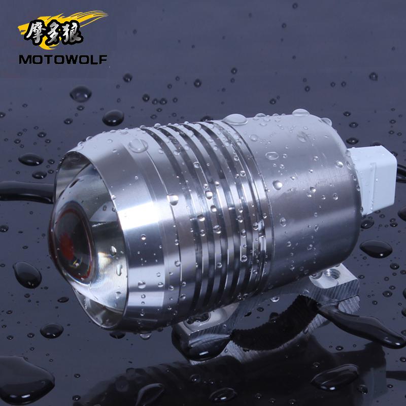 电动车摩托车改装LED大灯超亮防水激光炮强光灯泡前大灯爆闪射灯