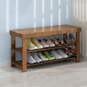 鞋架简易门口宿舍收纳神器家用室内好看换鞋凳实木楼道门厅鞋柜