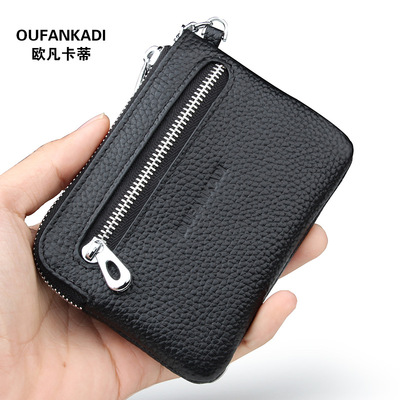Men Fashion Leather Wallet Short Wallets Hand Bags 624607